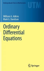 Ordinary Differential Equations-William A. Adkins, Mark G. Davidson-799pd5mb