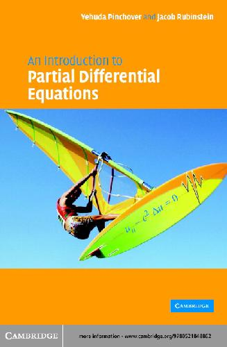 Pinchover An Introduction to Partial Differential Equations Author(s): Y. Pinchover, J. Rubenstein