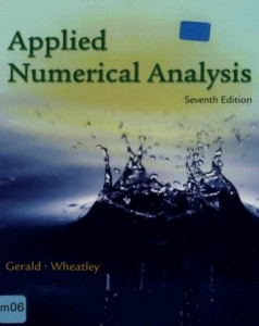 Applied Numerical Analysis by Gerald,Wheatly-620pd21mb