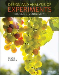 Design and Analysis of Experiments 9th edition Douglas Montgomery