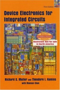 Device Electronics for Integrated Circuits 3th edc - Richard S. Muller, Theodore I. Kamins, Mansun Chan - 538dj16mb