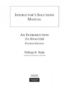 Instructor's Solutions Manual for Introduction to Analysis, 4th Ed-William R. Wade-172pd2mb