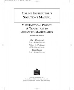 Instructor's Solutions Manual to Mathematical Proofs, 2nd Ed-Gary Chartrand, Albert D. Polimeni, Ping Zhang-136pd1mb