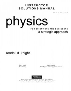 Instructor's Solutions Manual to Physics for Scientists and Engineers 3rd ed -Randall D. Knight-1271pd66mb
