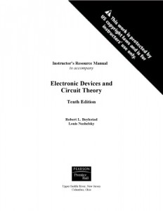 Instructors solution manual to Electronic Devices and Circuit Theory 10th Ed-Robert L. Boylestad, Louis Nashelsky-372pd12mb