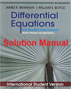 Solution Manual for Differential Equation - James Brannan, William Boyce