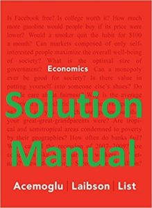 Solution Manual Economics Acemoglu and Laibson