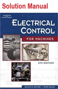 Solution Manual for Electrical Control for Machines - Peter Giuliani, Leo Chartrand