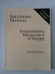 Solution Manual for Engineering Mechanics of Solids - Egor Popov