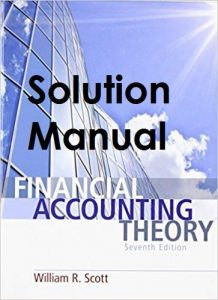 Solution Manual Financial Accounting Theory 7th edition William Scott