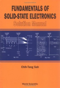 Solution Manual for Fundamentals of Solid-State Electronics 1st ed -Chih Tang Sah - 106dj9mb