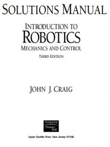 Solution Manual for Introduction to Robotics, Mechanics and Control 3rd edition - John J. Craig154