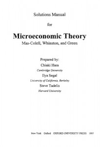 Solution Manual for Microeconomic Theory-Andreu Mas-Colell, Michael D. Whinston, Jerry R. Green-706pd13mb