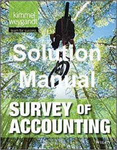 Solution Manual Survey of Accounting Paul Kimmel, Jerry Weygandt