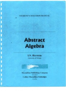 Solution manual for Abstract Algebra-I. N. Herstein-95pd66mb