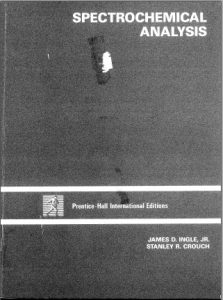 Spectrochemical Analysis - James D. Ingle, Stanley R. Crouch - 609pd